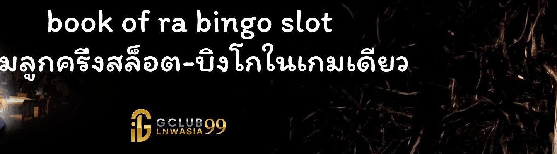 book of ra bingo slot เกมลูกครึ่งสล็อต-บิงโกในเกมเดียว